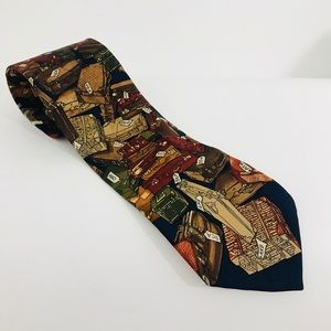 "ALYNN Neckwear mens tie ""Well Travelled"" design"